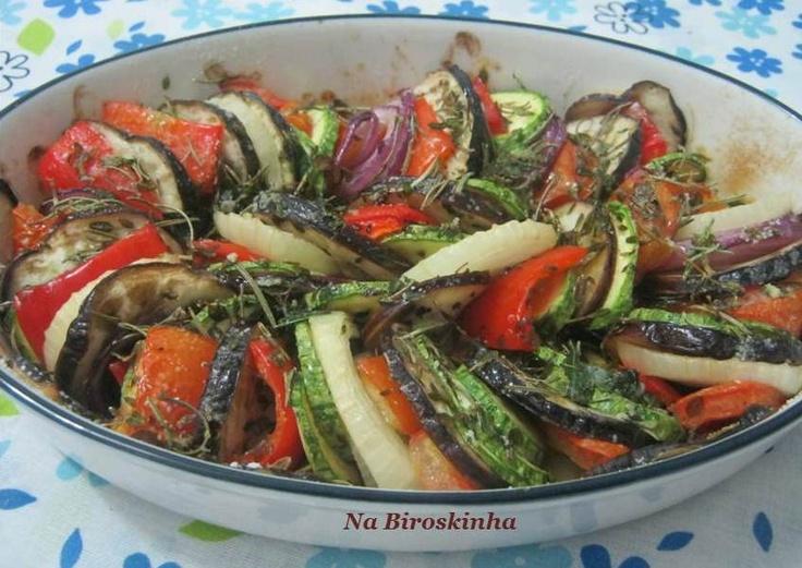 Legumes Grelhados com Alecrim - Na Biroskinha