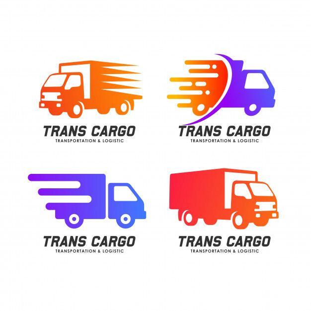 Cargo Delivery Services Logo Design . Trans Cargo Vector