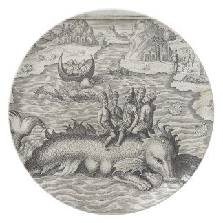 Map Monster/Sea Serpent Party Plate