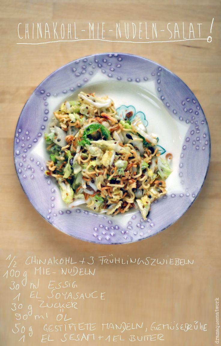 Genau! Das ist nämlich mein momentaner Dauerbrenner-Salat! Vor kurzem auf ´ner Party gegessen, im Internet gefunden (scheint ein alter Hut zu sein ;-) ), und zum Favoriten avanciert! Praktisch ist…