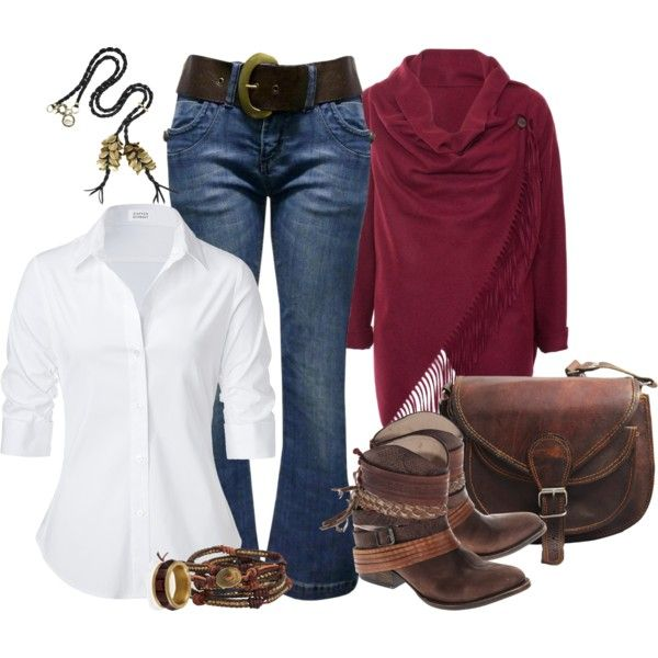 White Blouse Polyvore Outfits 20