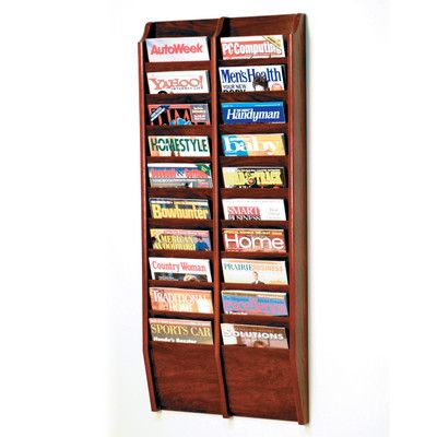 Wooden Mallet 20 Pocket Wall Mount Magazine Rack & Reviews | Wayfair Supply