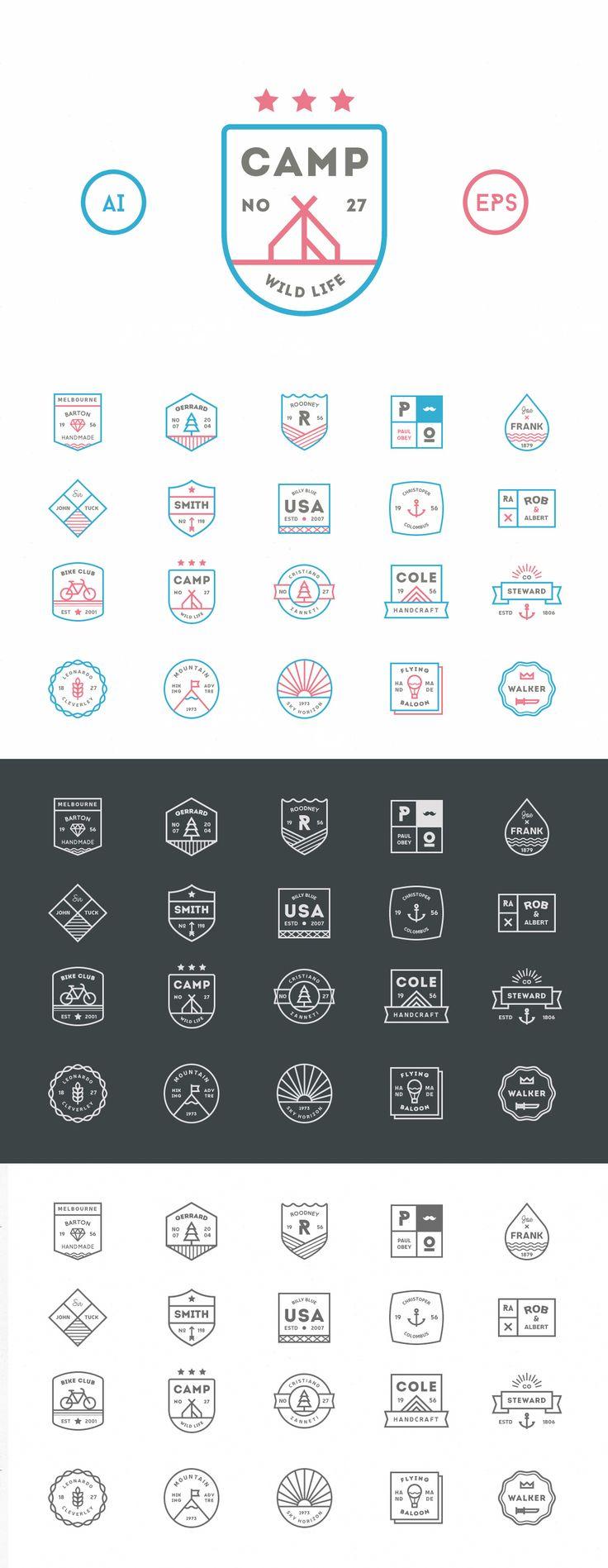 Awesome 20 Line Badges #design Download: https://creativemarket.com/vuuuds/124140-20-Line-Badges?u=ksioks