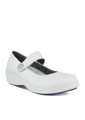 Spring Step Women's Professional Wisteria Mary Jane Shoe - White - 9.5W