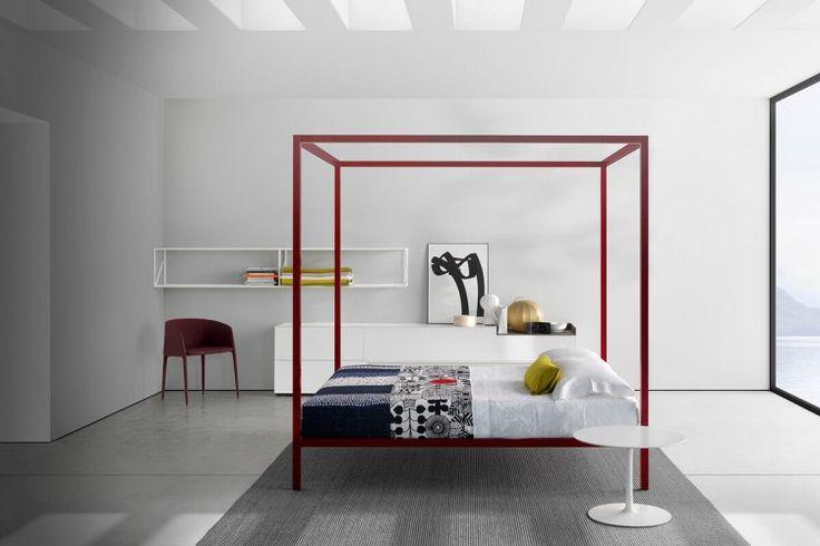 ALUMINIUM BED. Struttura letto dal design rigoroso. MDF Italia.