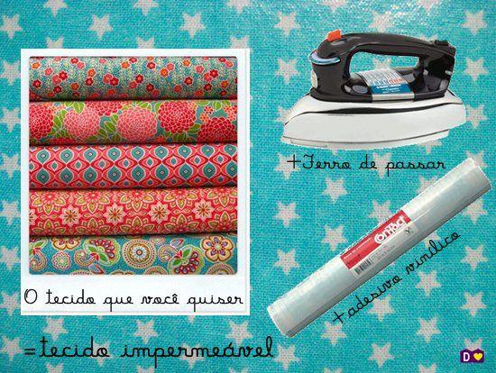 COMO PLASTIFICAR TECIDO - dcoracao.com - blog de decoração e tutorial diy                                                                                                                                                      Mais