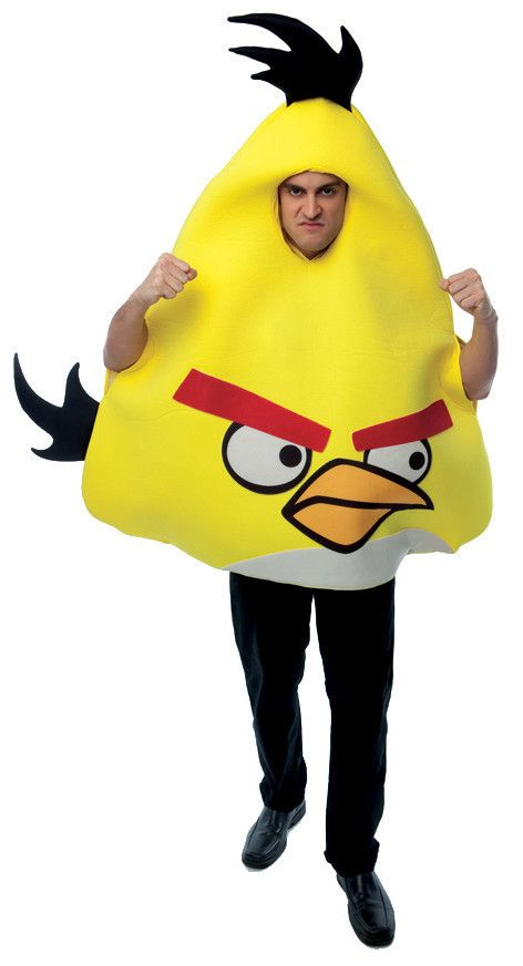 Angry Bird Yellow Men's Costume