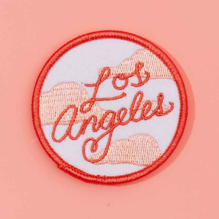 - Description - how to apply we love L.A. and how the smog turns pink at sunset, which our bff Tuesday bassen captures perfectly in this patch. iron it on and rep the city of angels. - 2.5 in. - duo t