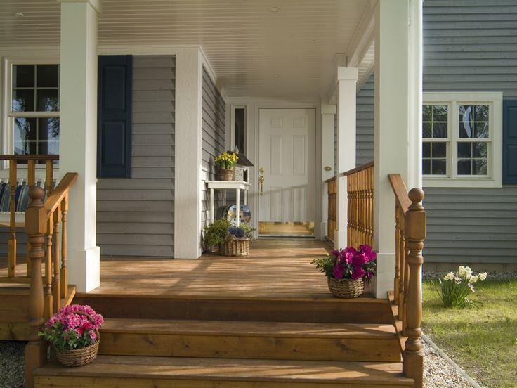 Holzhäuser amerikanischer stil  26 besten Veranda Bilder auf Pinterest   Grundrisse, Amerikanische ...