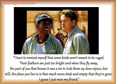 """the shawshank redemption and sociology After missing the original list in 1997, the shawshank redemption finally made the cut at #72 for the 10th anniversary, higher than both forrest gump and pulp fiction, mind you as morgan freeman hosted the cbs special, he beamed with pride: """"there is no magic formula for excellence but you try."""