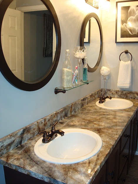 My Painted Laminate Countertops In My Master Bath