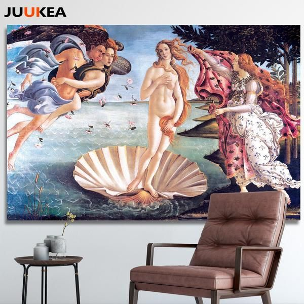 Sandro Botticelli The Birth Of Venus Classic Canvas Painting Print Canvas Art