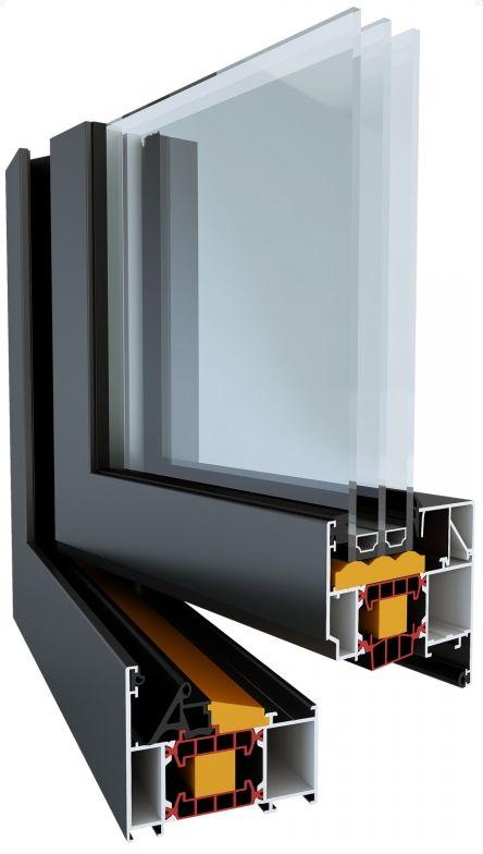 Hliníkové okno systém TM 77 HI