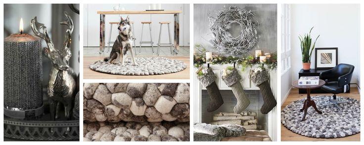 grå-steinteppe-ull-jul-dekorasjon