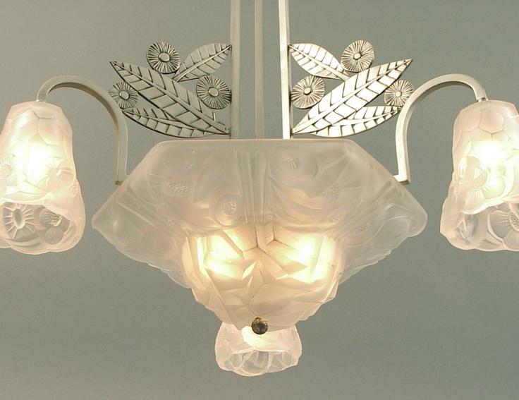 Degue French Art Deco Chandelier