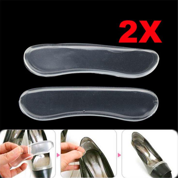1ペアソフトシリコーンゲルヒール靴パッドクッションプロテクター靴パッドコンフォートフットケアツール