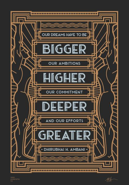 Typography: Dream, Dhirubhai Ambani canvas poster