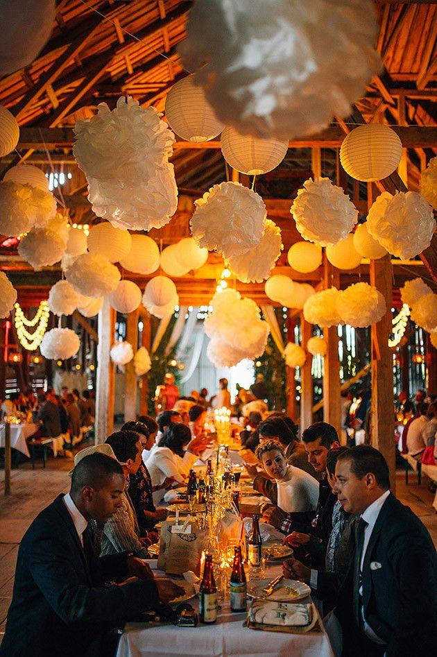 Pom Poms and Lanterns | Cool Swedish Barn Wedding | Nordica Photography | Bridal Musings Wedding Blog