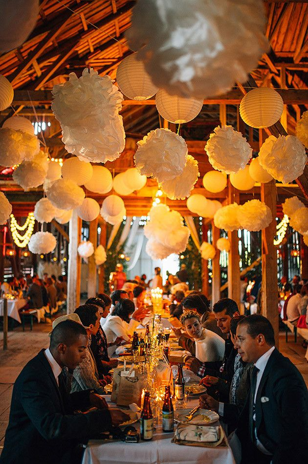 Pom Poms and Lanterns | Cool Swedish Barn Wedding | Nordica Photography | Bridal Musings Wedding Blog
