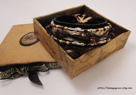 Мягкая замша браслет в стиле Boho. по RadugaGems на Etsy