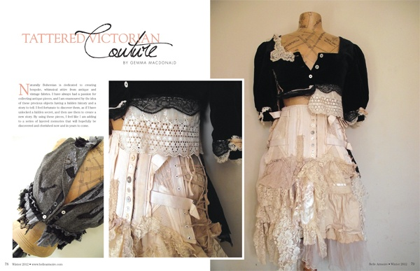 Inspiration. Tattered Victorian. Use a men's shirt as the base...