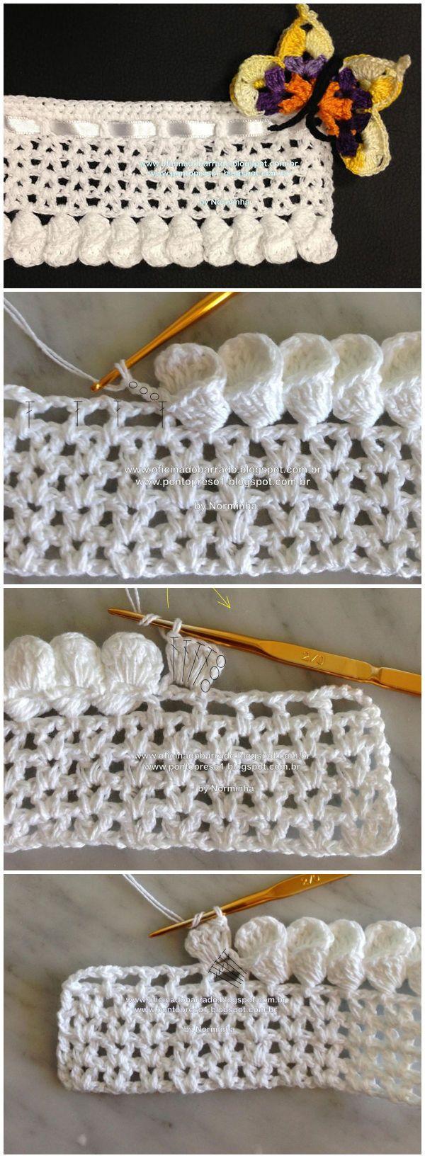 Crochet Petal Cone Edging