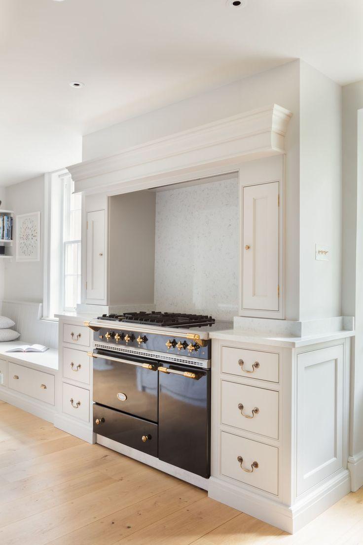 Georgian Farmhouse Kitchen, Hampshire - Humphrey Munson Kitchens - Lacanche range cooker