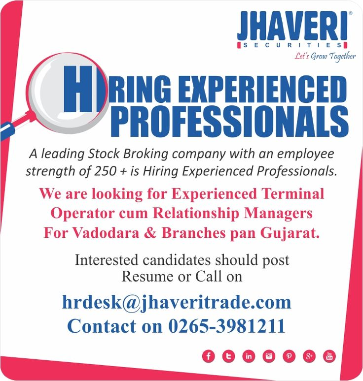 BigJobOpportunity at Jhaveri Securities Ltd Interested candidates - post a resume