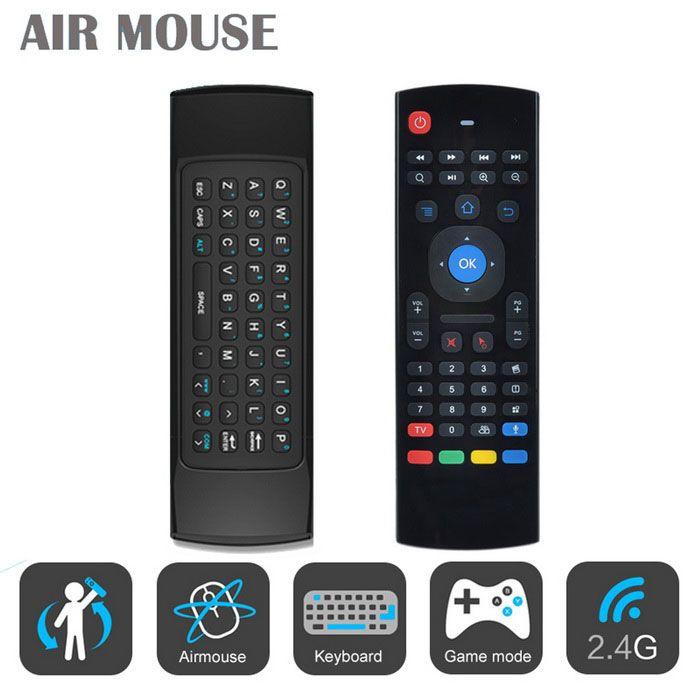 клавиатура 2.4G беспроводная клавиатура QWERTY + воздух муха мышь + пульт…