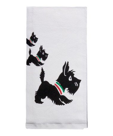 Take a look at this Scottie Flour Sack Towel - Set of Two by Red and White Kitchen Company on #zulily today!