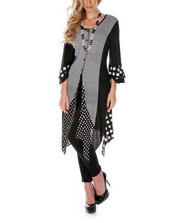 Love this Black & White Polka Dot Duster on #zulily! #zulilyfinds