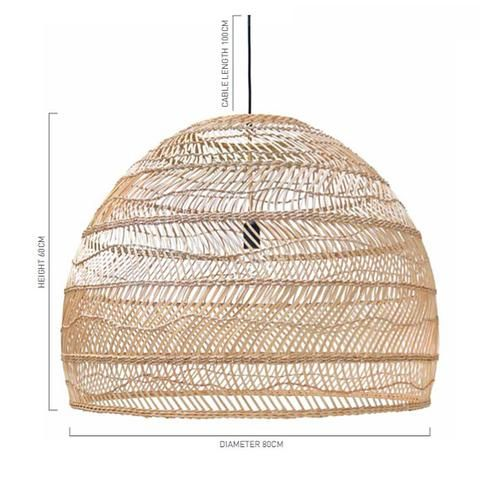 PENDANT | large handwoven wicker by HK Living
