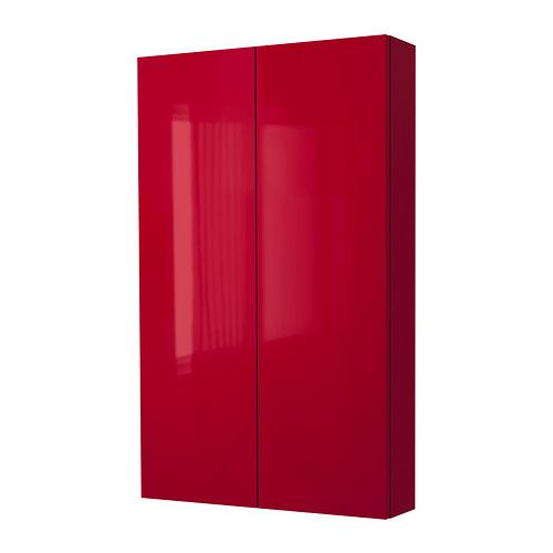 IKEA - GODMORGON, Armario de pared con 2 puertas, , 10 años de garantía. Consulta las condiciones generales en el folleto de garantía.Baldas de vidrio templado, con mayor resistencia al peso y los impactos que el vidrio normal.Puedes montar la puerta para que se abra desde la derecha o desde la izquierda.