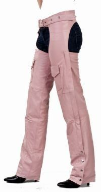 Womens Chaps by Biker Gear. $122.00. Womens Pink Leather Motorcycle Chaps