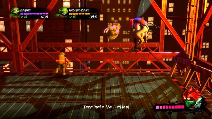 We Play Turtles In Time Reshelled - Scene 1