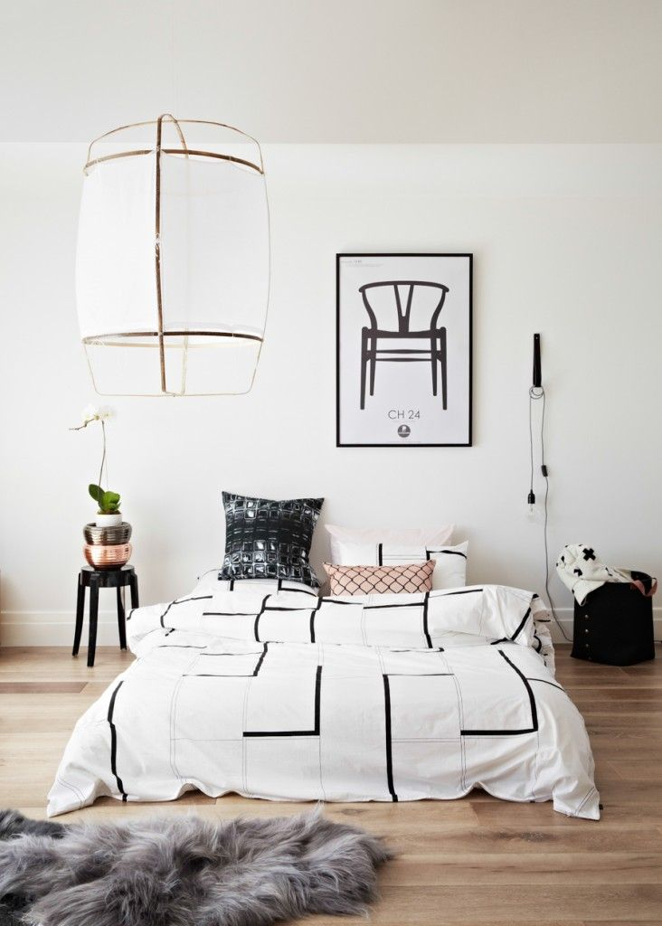 Gorgeous graphic bedroom