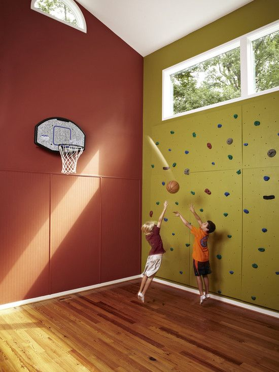 115 best church youth rooms images on pinterest church for Indoor basketball court design