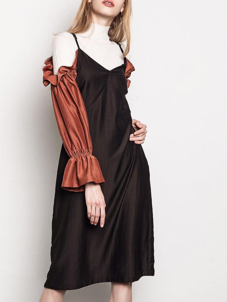 Shop Midi Dresses - Cold Shoulder Polyester Girly Cold Shoulder Midi Dress online. Discover unique designers fashion at StyleWe.com.