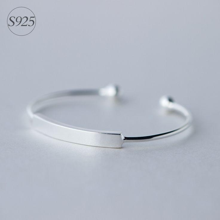 Simple design Genuine 925 Sterling Silver Double Round Ball Polished Bangle Bracelet Cuff Adjustable Size LS165 www.bernysjewels.com #bernysjewels #jewels #jewelry #nice #bags
