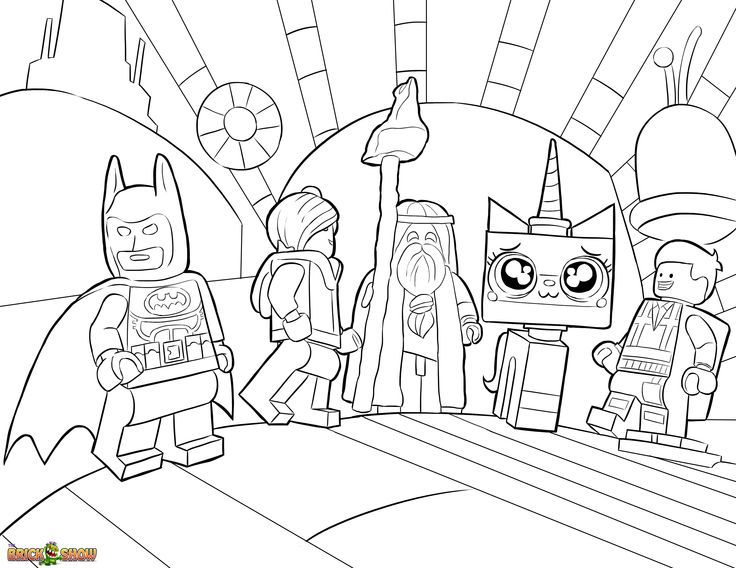 51 best Lego Movie Coloring Pages images on Pinterest | Colouring ...