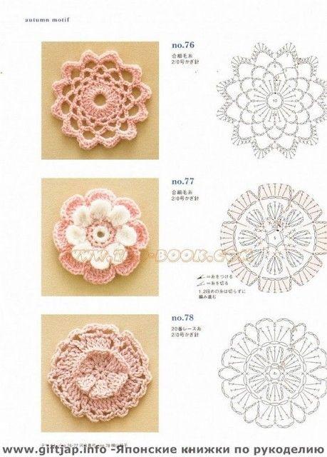 Crochetpedia:2Dかぎ針編みの花無料パターン