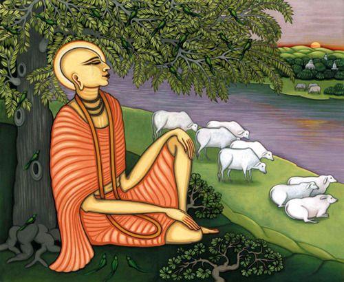 "✨ Shri Krishna Chaitanya Mahaprabhu ✨ ""One who thinks himself lower than grass…"