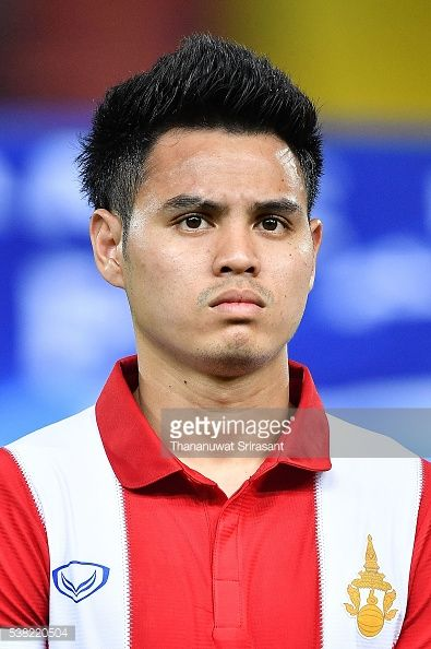 Theerathon Bunmathan of Thailand poses during the 44th King's Cup match between Thailand and Syria at Rajamangala Stadium on June 3 2016 in Bangkok...