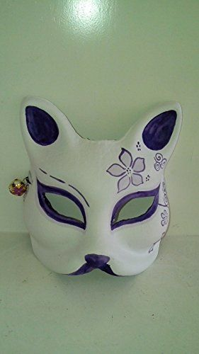 Japanese Style Painted Fox Mask Purple -- Want additional info? Click on the image.