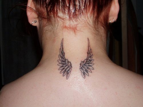 Angel Wings Tattoo for Asian Girls