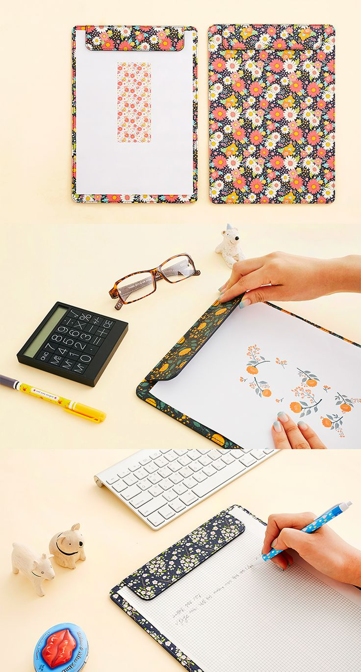Have a bit of spring with you wherever you go with the Ardium Pattern Leather Clipboard! The bright patterns will bring spring warmth to any office. It's perfect for organizing papers, documents, and notes for presentations and work meetings!