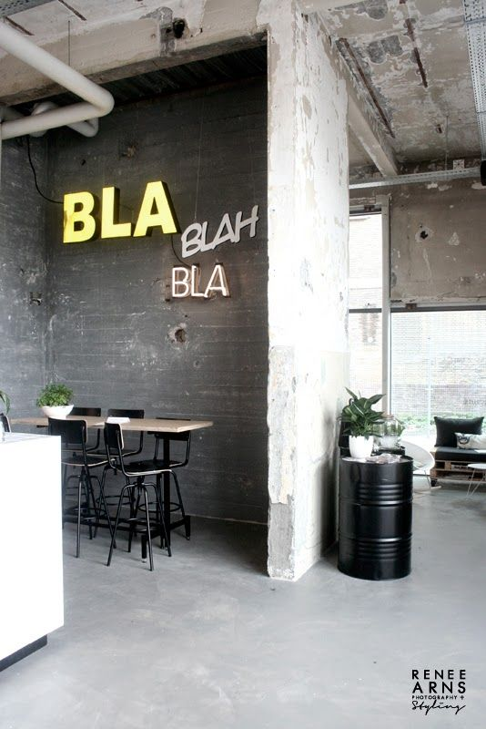 love the industrial styleonder de leidingstraat photo by stylist renee arns - Concrete Cafe Interior