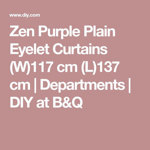 Zen Purple Plain Eyelet Curtains (W)117 cm (L)137 cm | Departments | DIY at B&Q