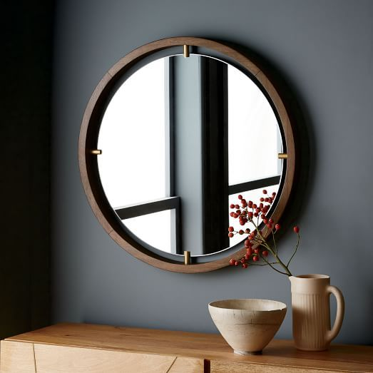 Floating Suspension Round Mirror