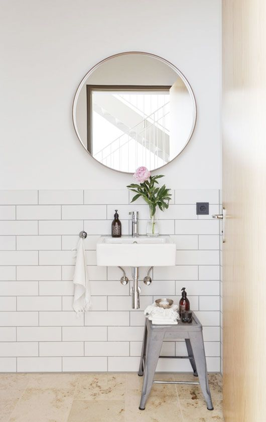 White Subway Tiles - A Simple Minimal Bathroom
